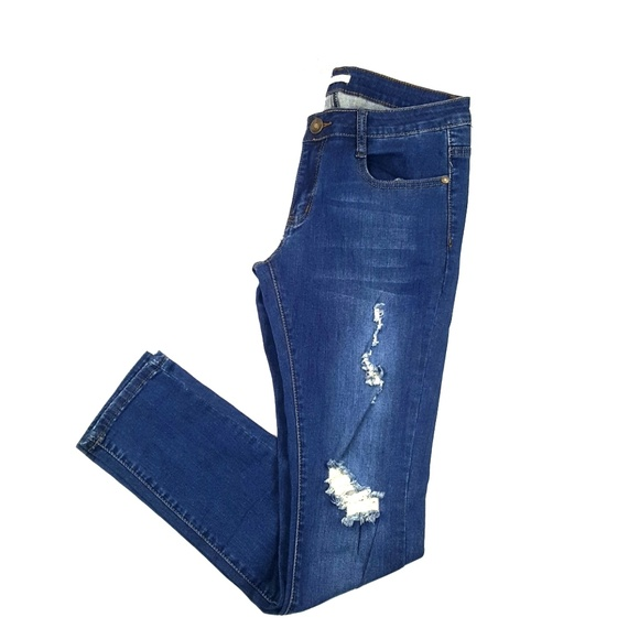Jazz Denim - Distressed Skinny Jeans {Jazz}
